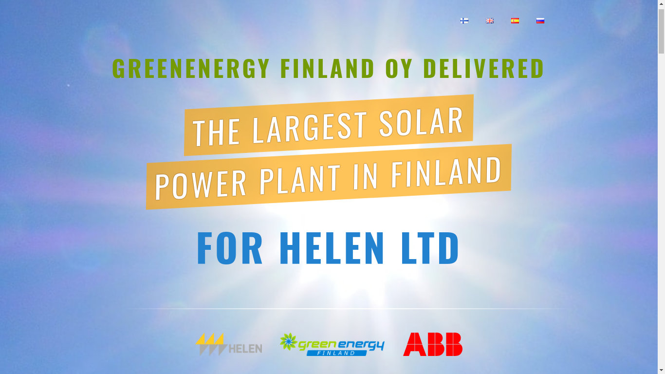 Portfolio Power Plant Layout Design Promo Website For Largest In Finland Based On Cms Concrete5 And Coding